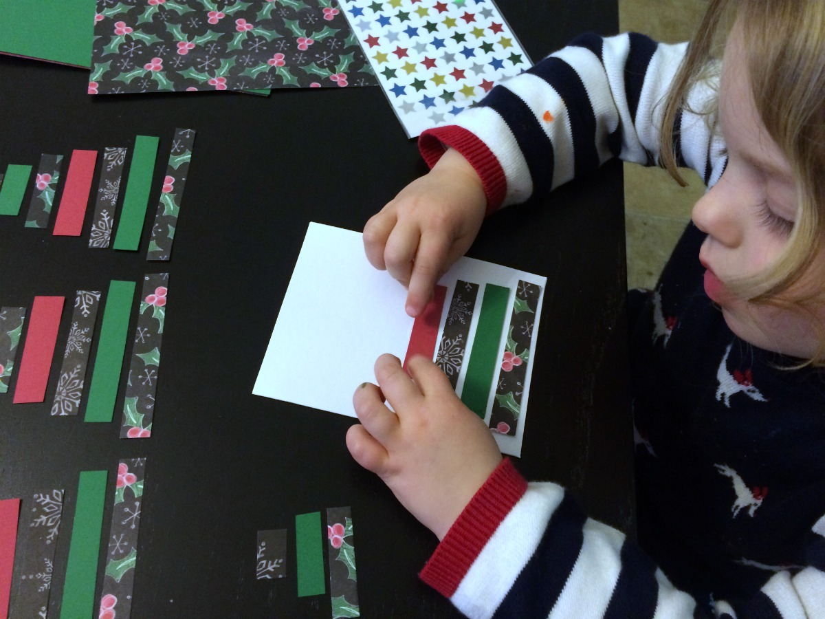 Super easy Christmas card craft project 3