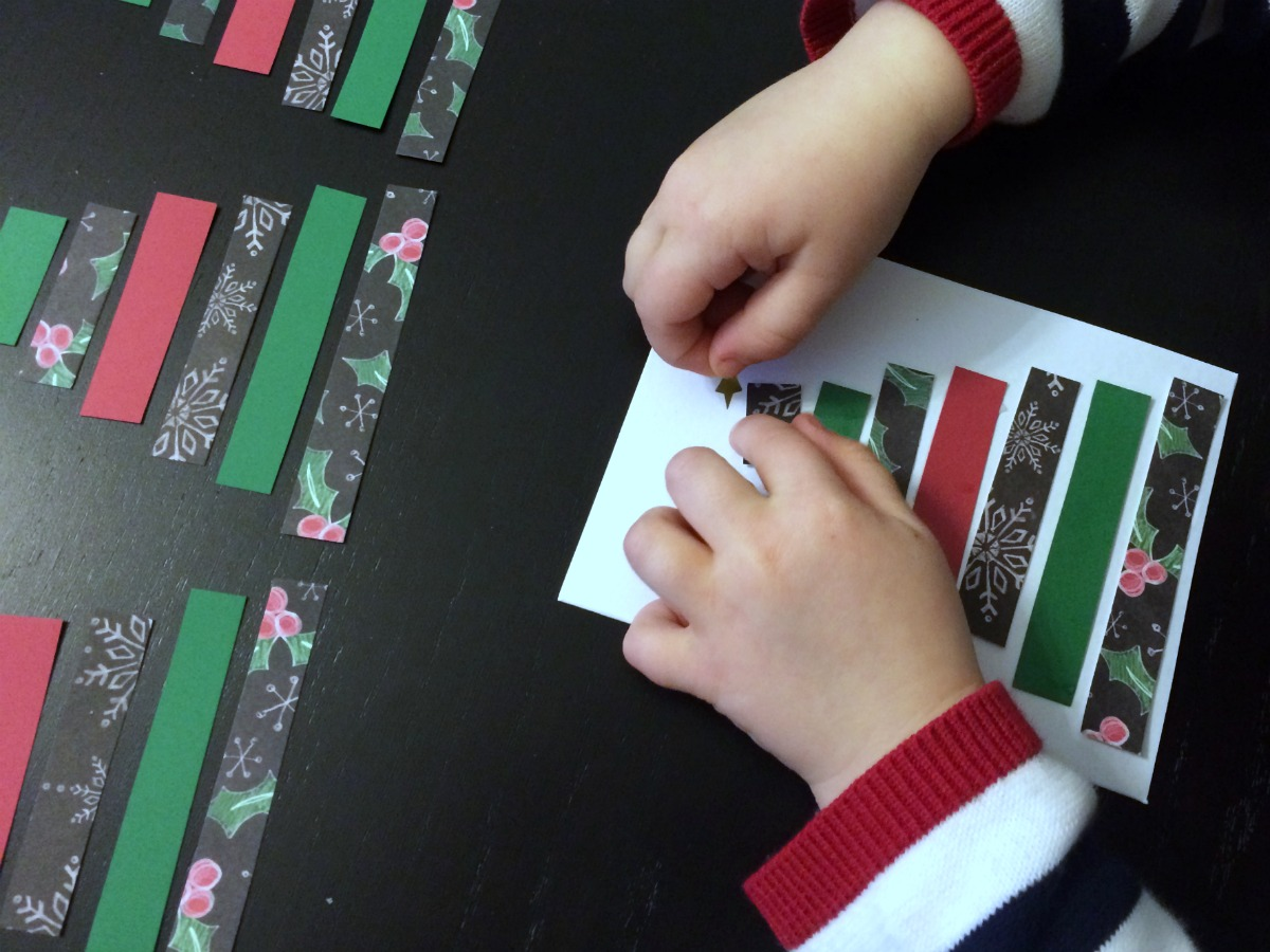 Super easy Christmas card craft project 5