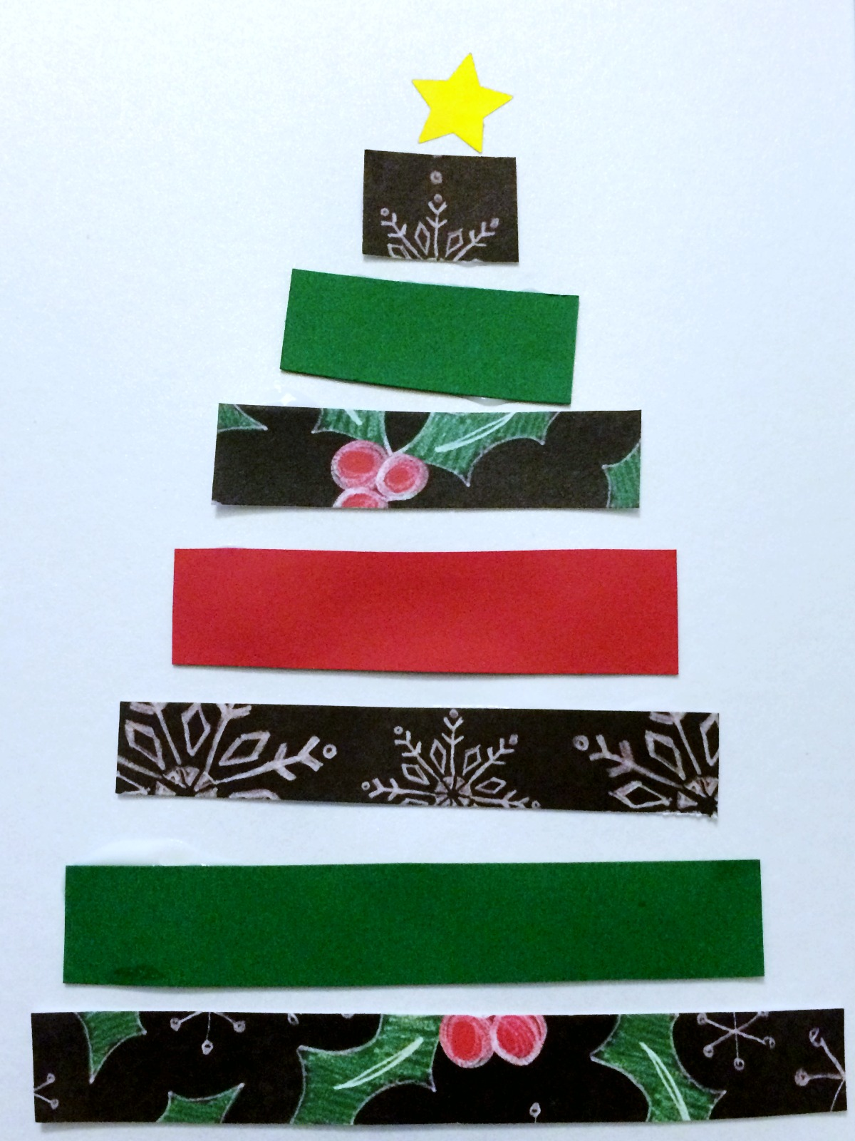 Super easy Christmas card craft project 8