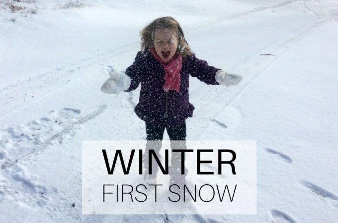 Winter: first snow