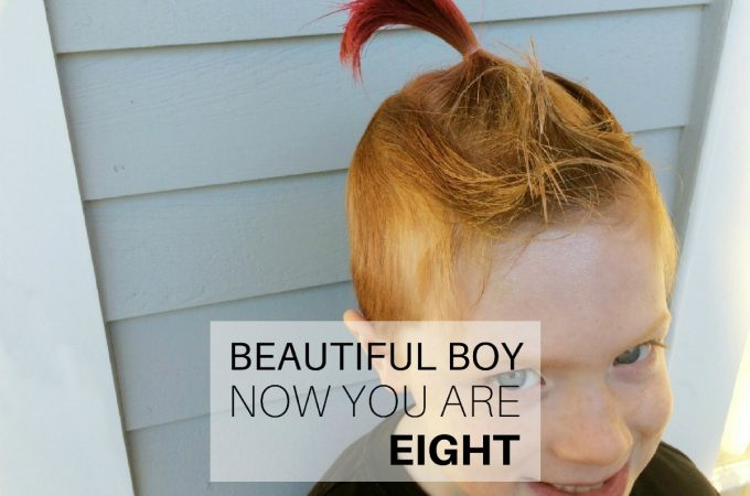 Beautiful boy, now you are eight