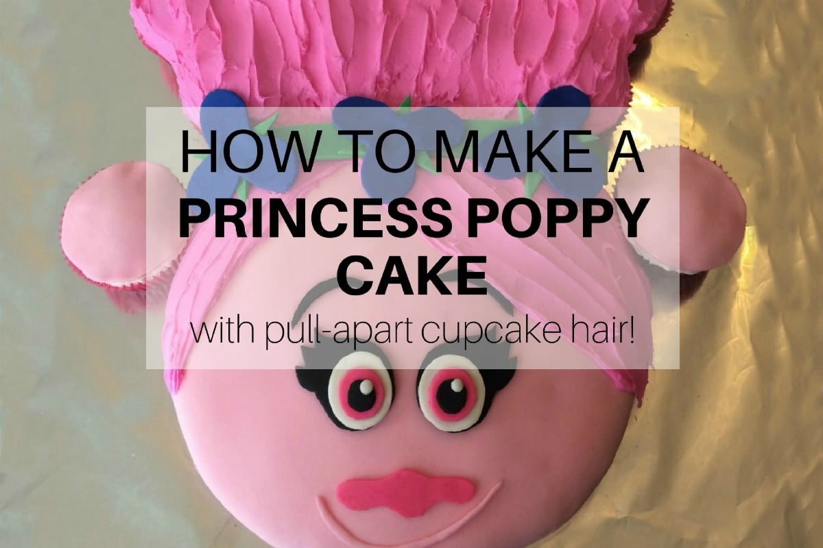 How To Make A Princess Poppy Cake With Pull Apart Cupcake