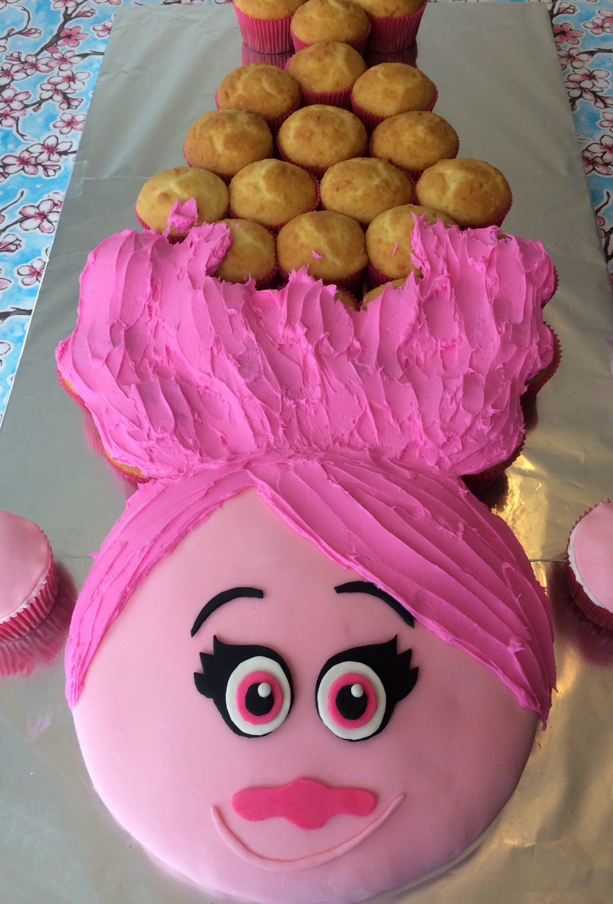 How To Make A Princess Poppy Cake With Pull Apart Cupcake Hair Step By