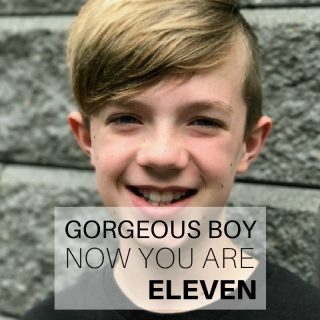 Gorgeous boy, now you are eleven