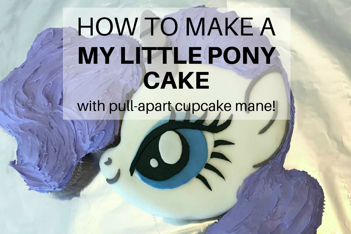How to make a My Little Pony cake with pull-apart cupcake mane ...