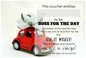 Boss for the day voucher