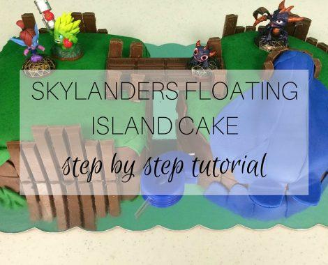 Skylanders Floating Island Cake - Featured